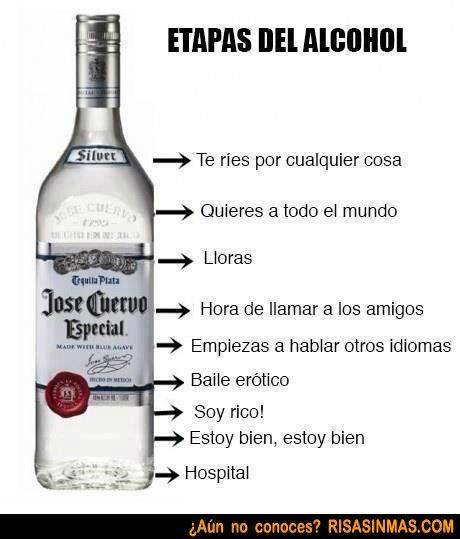 Etapas Del Alcohol Risa Sin Mas Alcohol Humor Alcohol Quotes Funny Vodka Humor