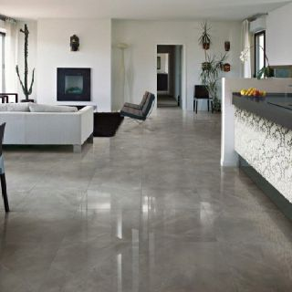 Polished Grey Porcelain Tile Interior Design Pinterest