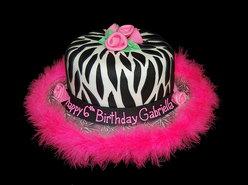 صور لقوالب أعياد ميلاد البنات 6th Birthday Cakes Zebra Birthday Cakes Pink Zebra Birthday
