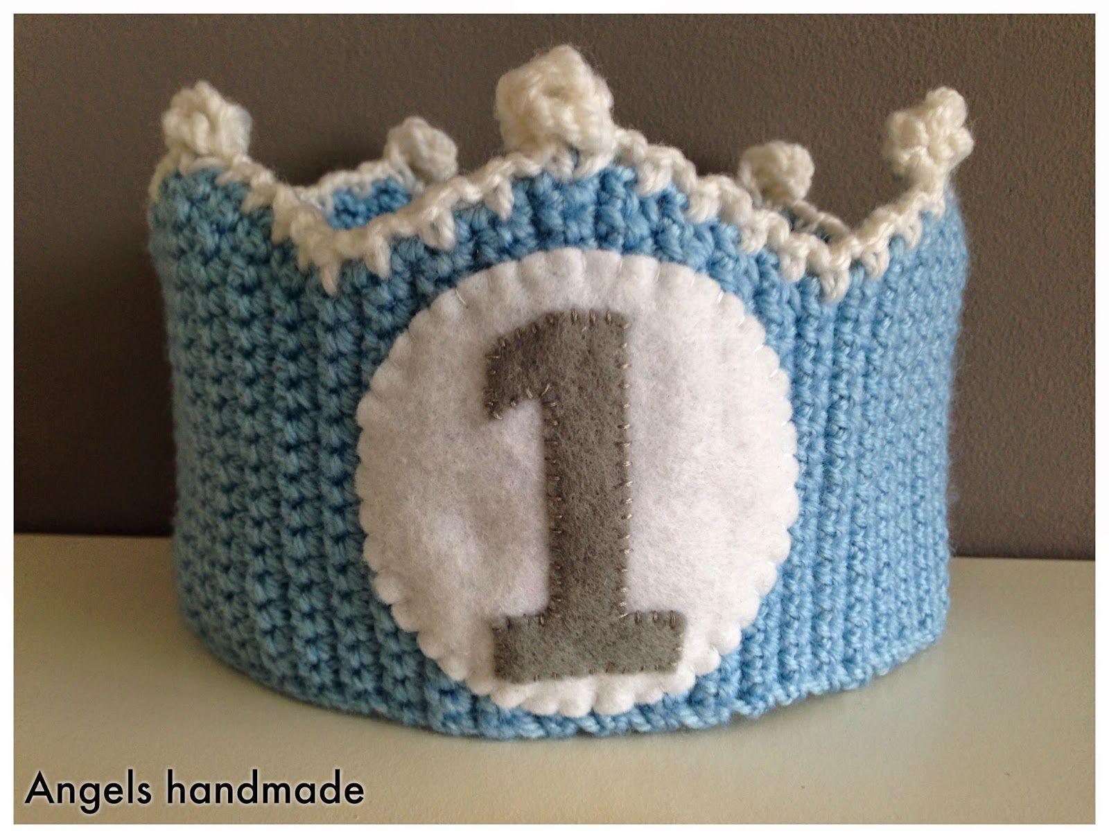 Gehaakte verjaardagskroon haakpatroon #crochet birthday crown free ...
