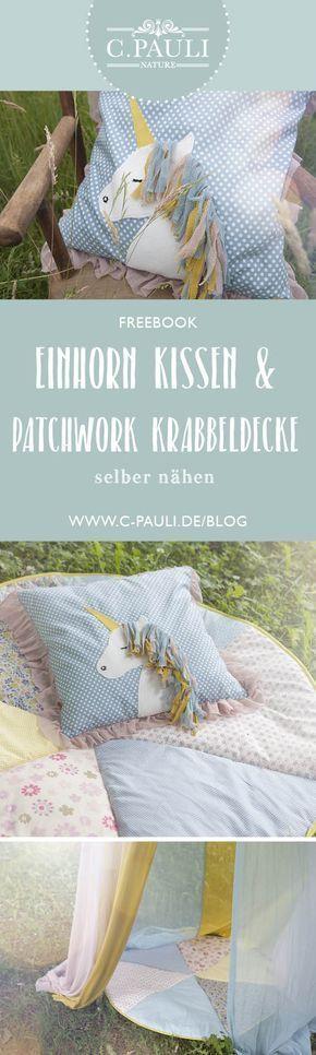 diy kissen mit einhorn applikation organic cotton c pauli nature blog n hen n hen. Black Bedroom Furniture Sets. Home Design Ideas