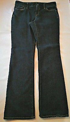 HUGE BACK TO SCHOOL SALE!  Ann Taylor Loft Women's Mid Rise Curvy Boot Cut Dark Wash Denim Jeans Size 8
