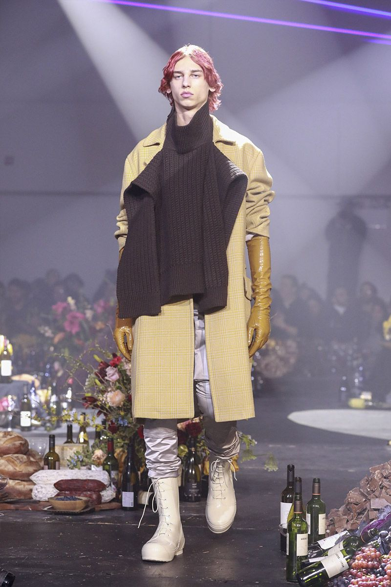 Raf Simons showed his FallWinter  collection during New York