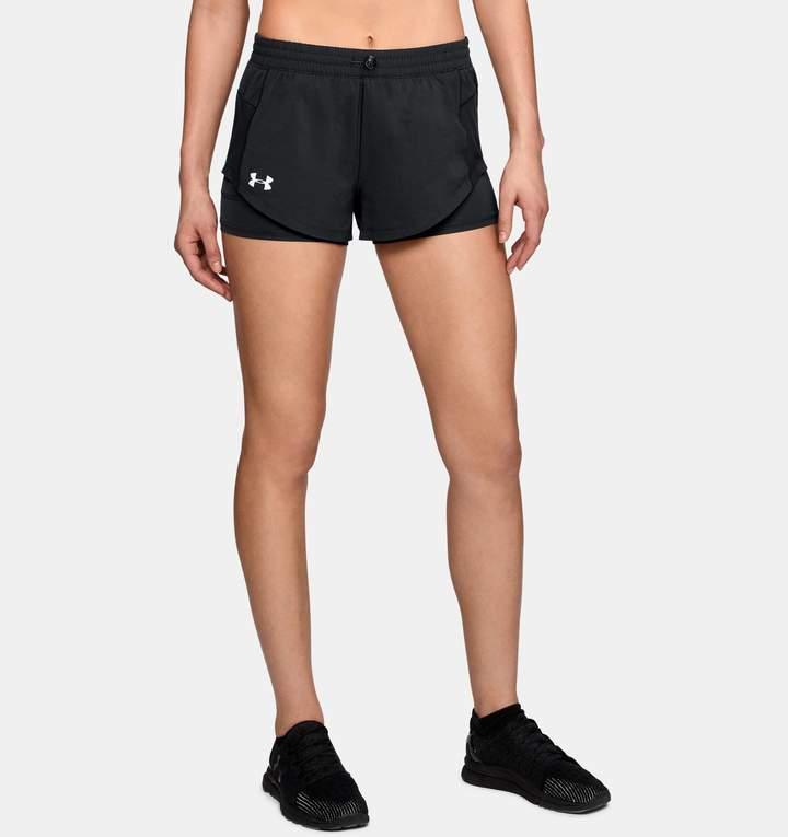 90ada33c761 Under Armour Women s UA Stretch Woven 2-in-1 Run Shorts