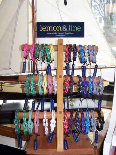 Lemon and Line just arrived in our store and it is another great accessory designed by a Native Rhode Islander. Keeping summer dreams alive with authentic, nautically inspired, bracelets made by hand in Newport, RI.