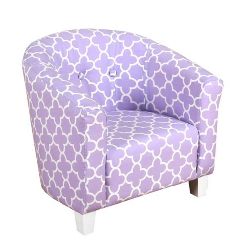 Beau Purple Quatrefoil Kids Tub Chair | Kirklands