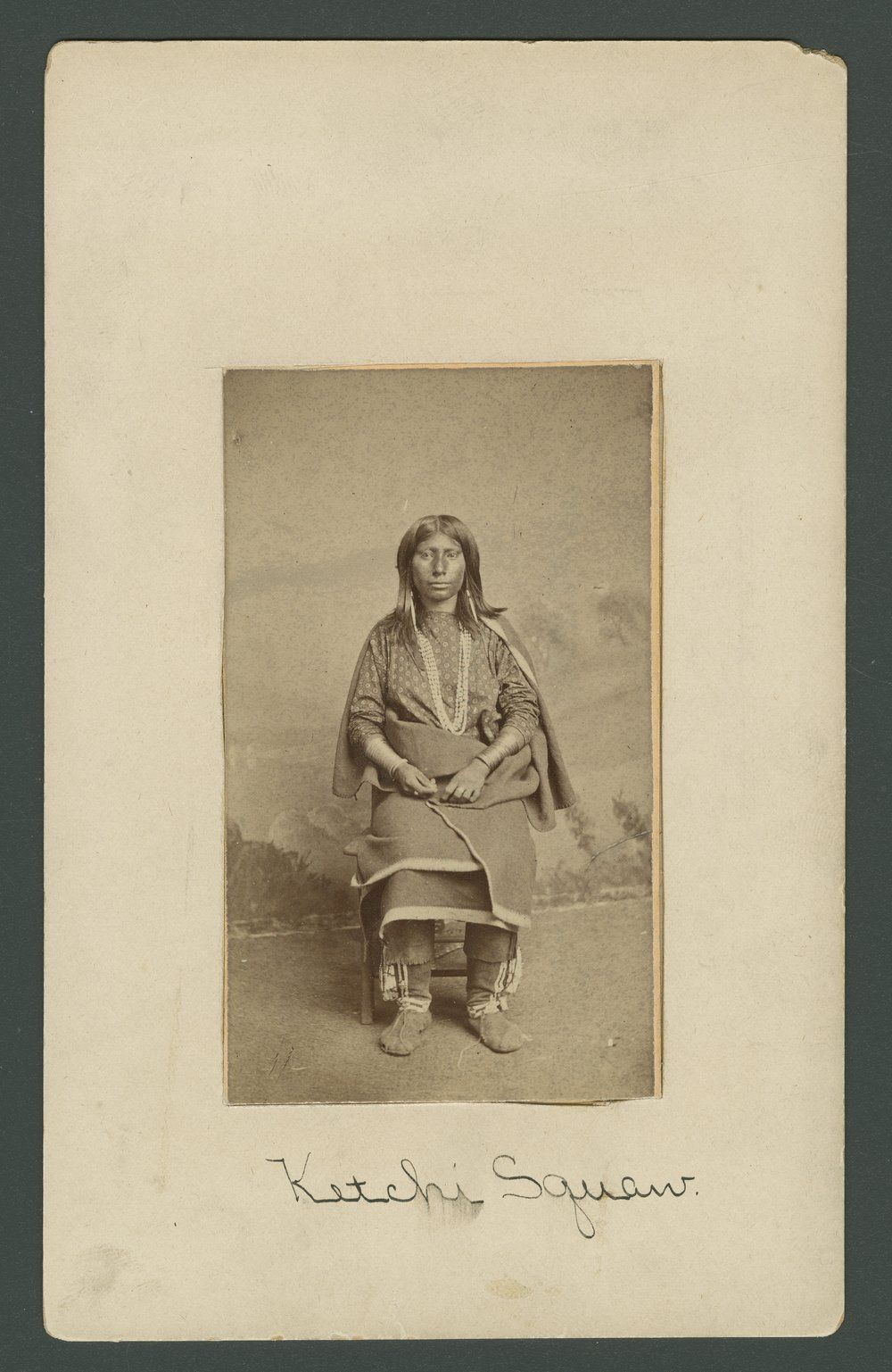 This Carte De Visite Of A Caddo Kichai Woman Var Keeche