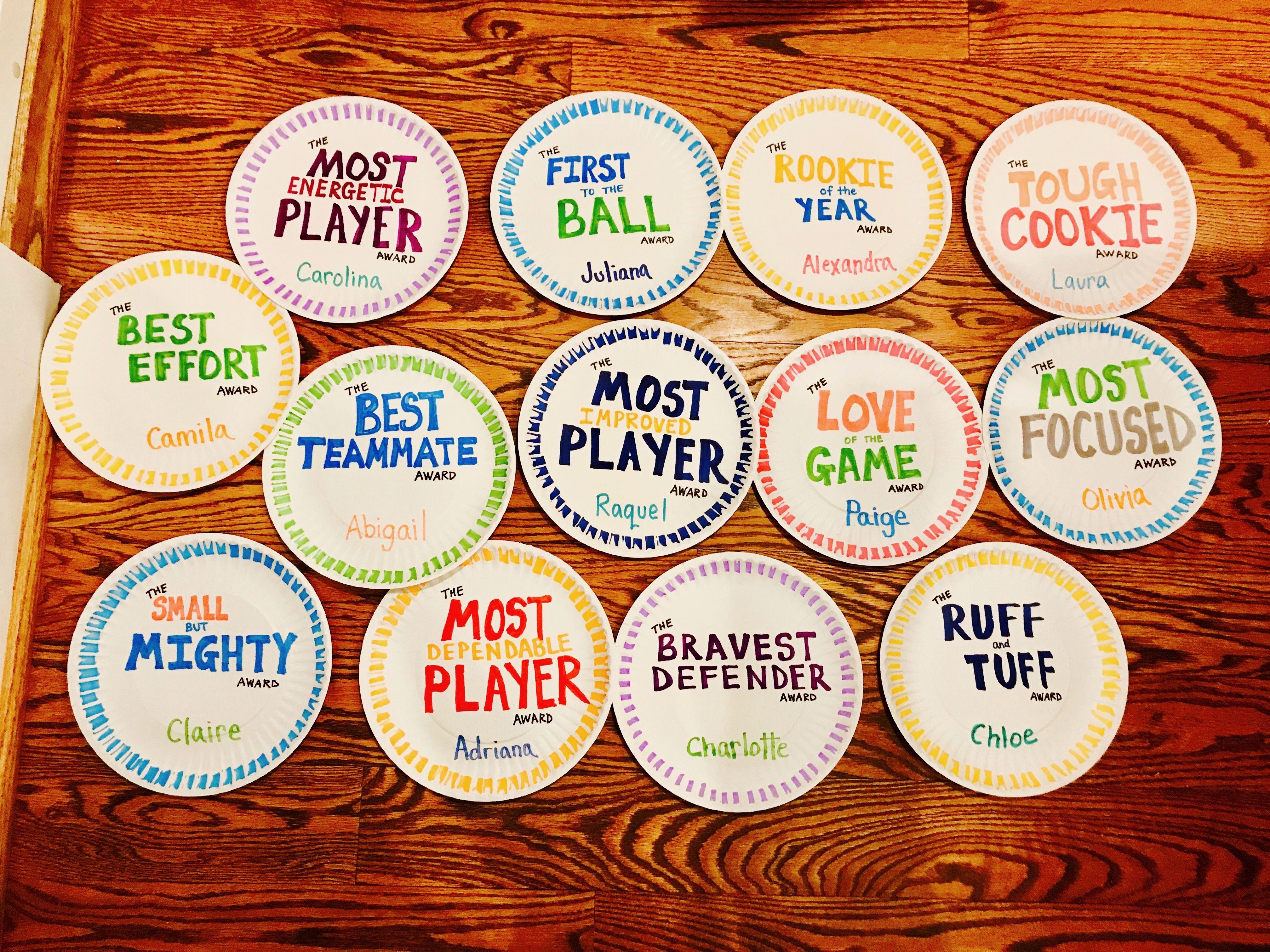 Paper Plate Awards For Soccer Paper Plate Awards Team Awards Ideas Basketball Awards
