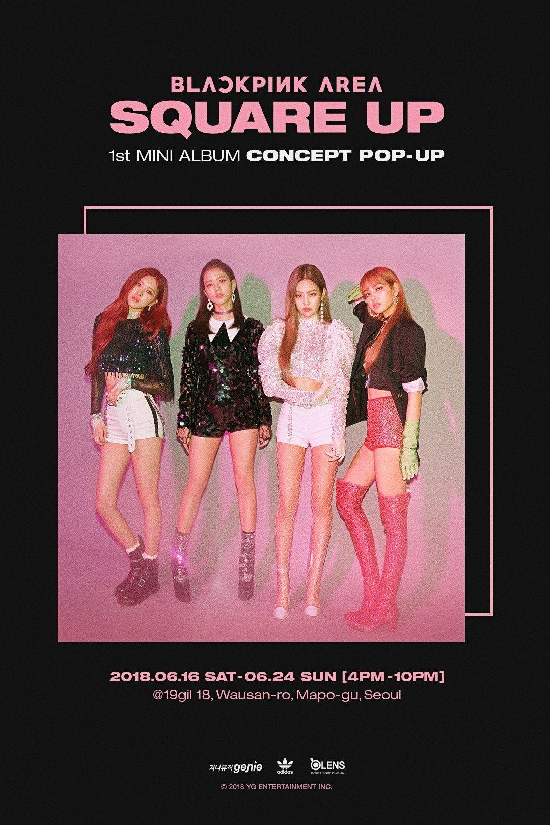 Blackpink Area Square Up 1st Mini Album Concept Pop Up Bllɔkpiik