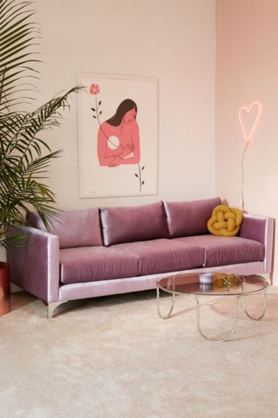 Shop the Chamberlin Velvet Sofa and more Urban Outfitters at Urban