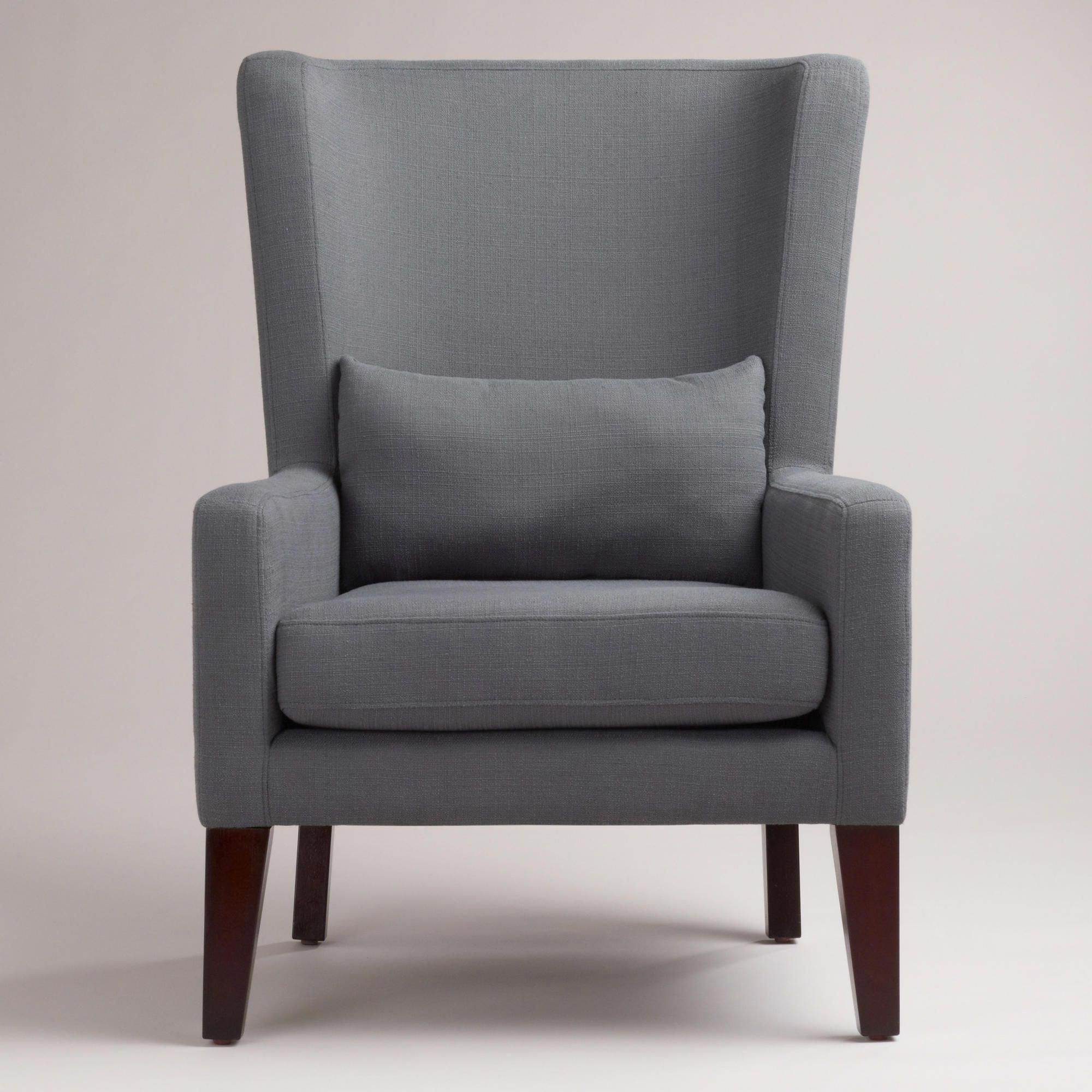 Dove gray triton high back chair world market 300 50