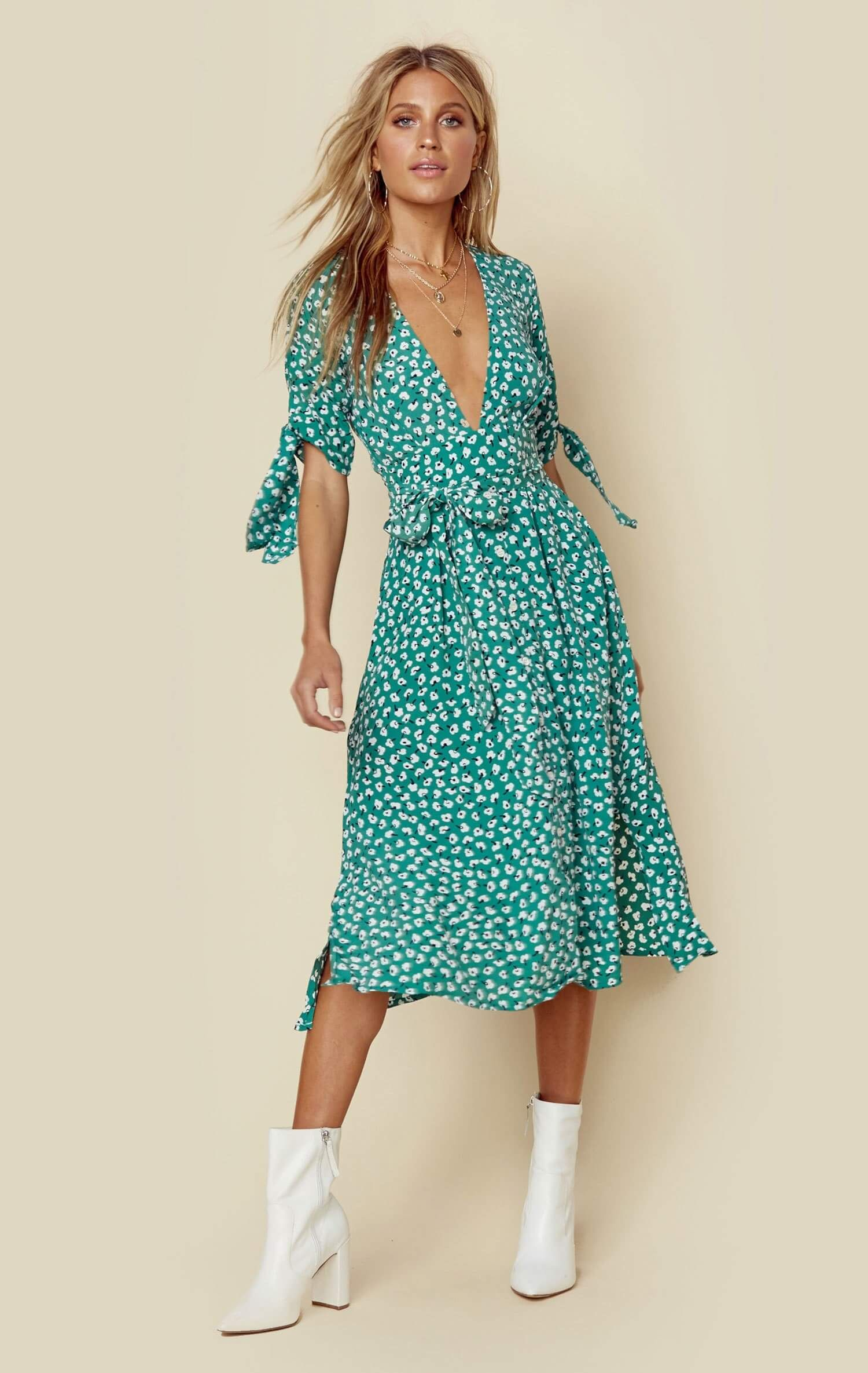 shop best sellers free shipping closer at Faithfull The Brand's Nina Midi Dress features a vintage bloom ...