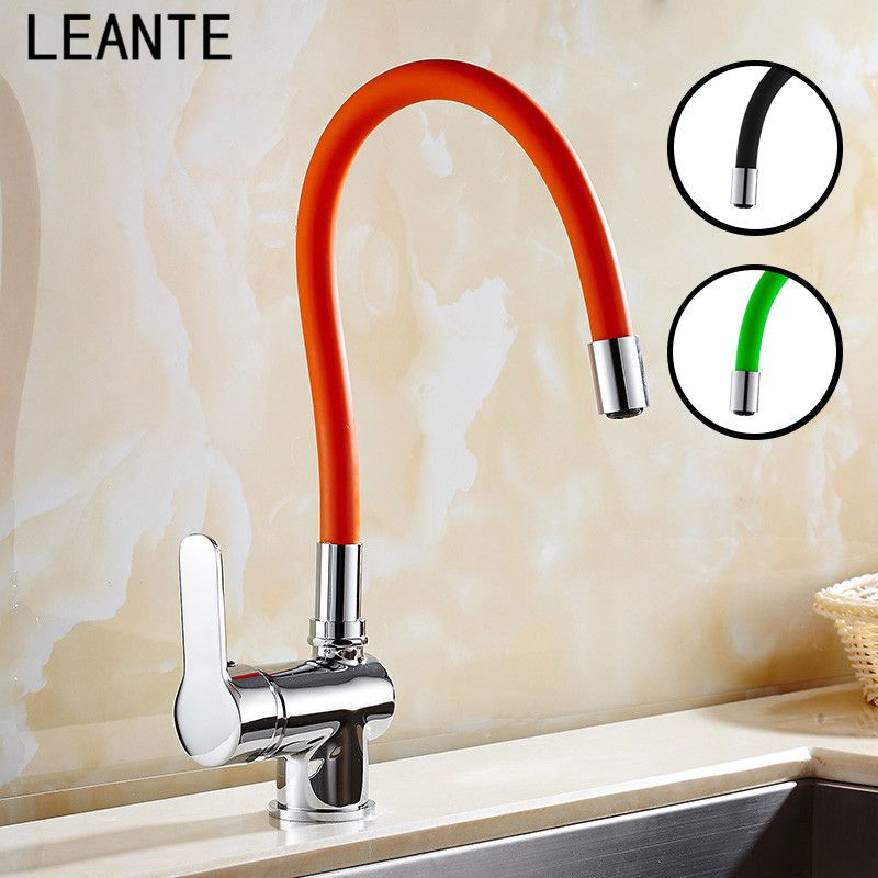 LEANTE Kitchen Faucet Increased Environmental Protection Silicone Universal Tube  Hot And Cold Kitchen Faucet 9106