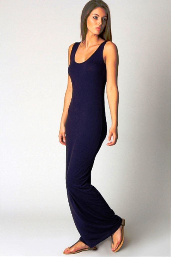 Purplish Blue Maxi Dress