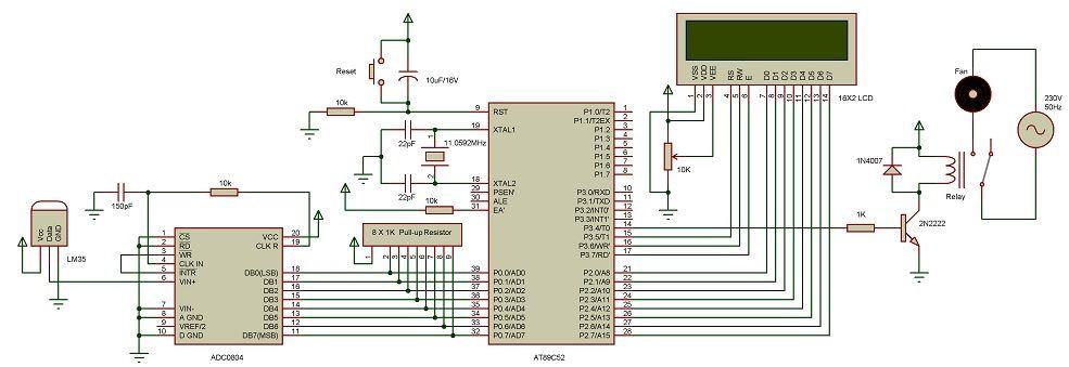 Temperature Controlled Dc Fan Using Atmega8 Microcontroller ẳgd