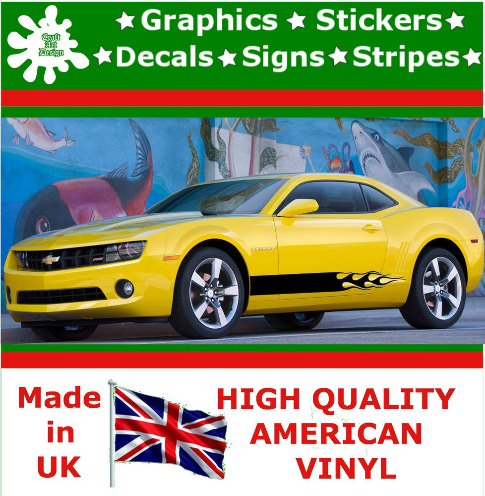 Details About  Racing Side Stripes Vinyl Decal Sticker Car Van - Vinyl decals for race cars