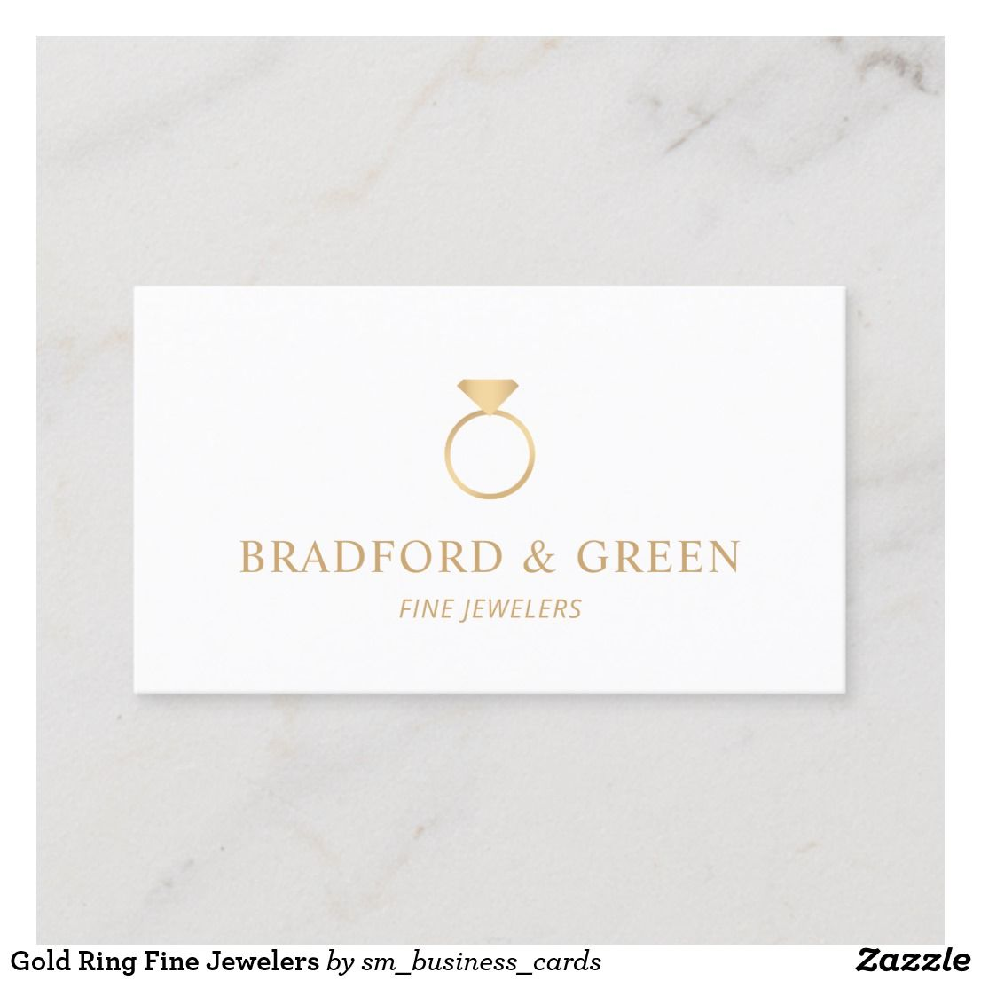 Gold Ring Fine Jewelers Business Card Zazzle Com Engagement