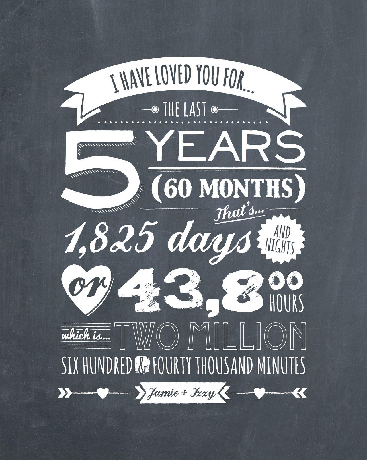 Typography Tumblr Aniversario De Bodas Aniversario De 5