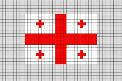 Flag Of Georgia Pixel Art Pixel Art Drapeau Et Modele