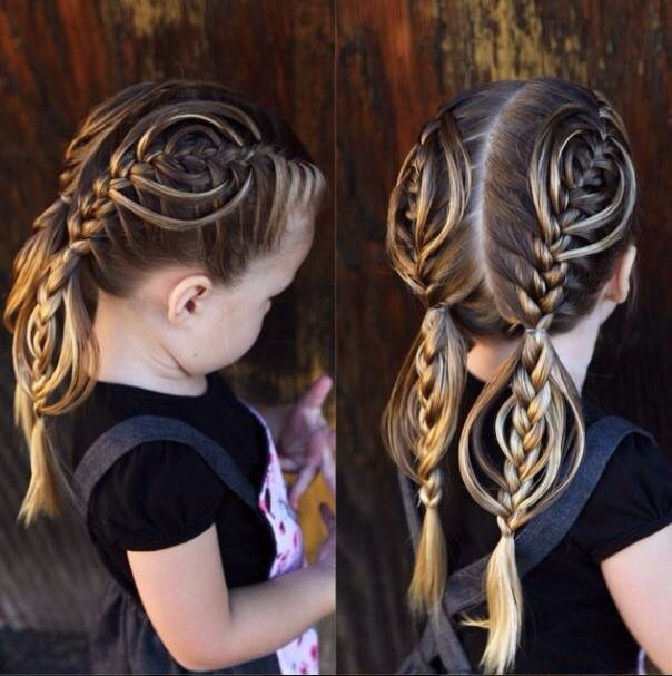 Variation of the cookie cutter braid.