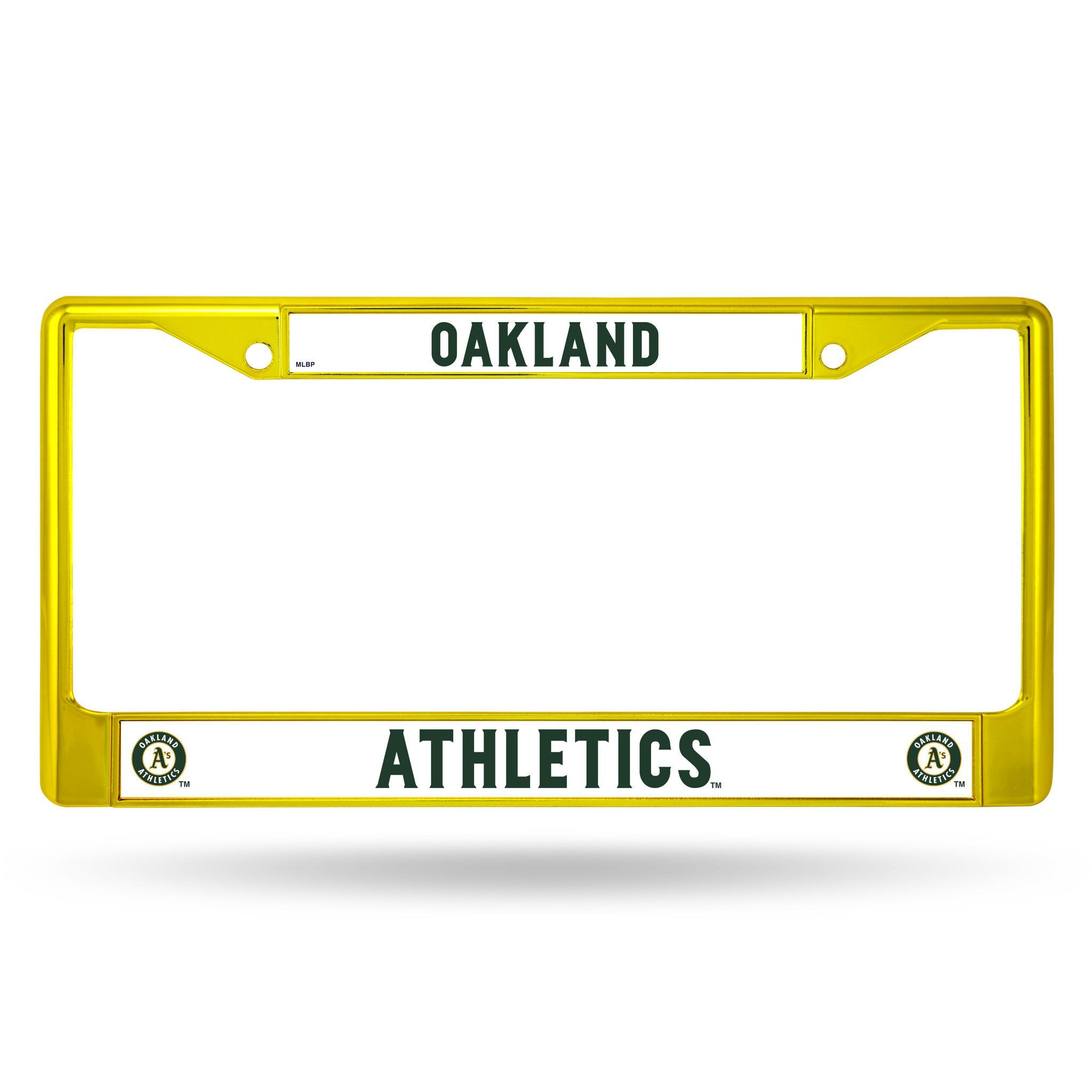 Oakland Athletics Metal License Plate Frame - Yellow
