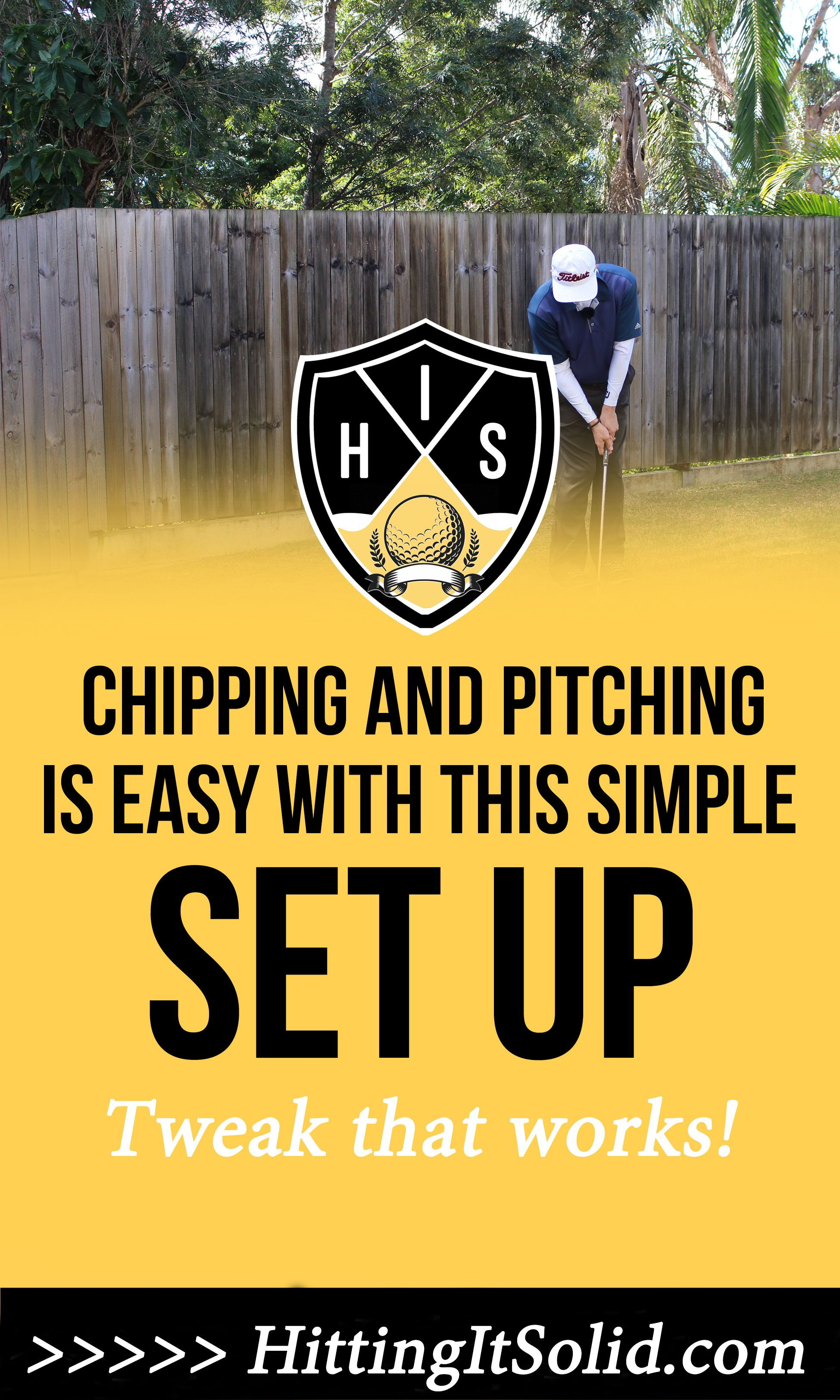 Learn how to chip and pitch the golf ball easy with this 1 ...