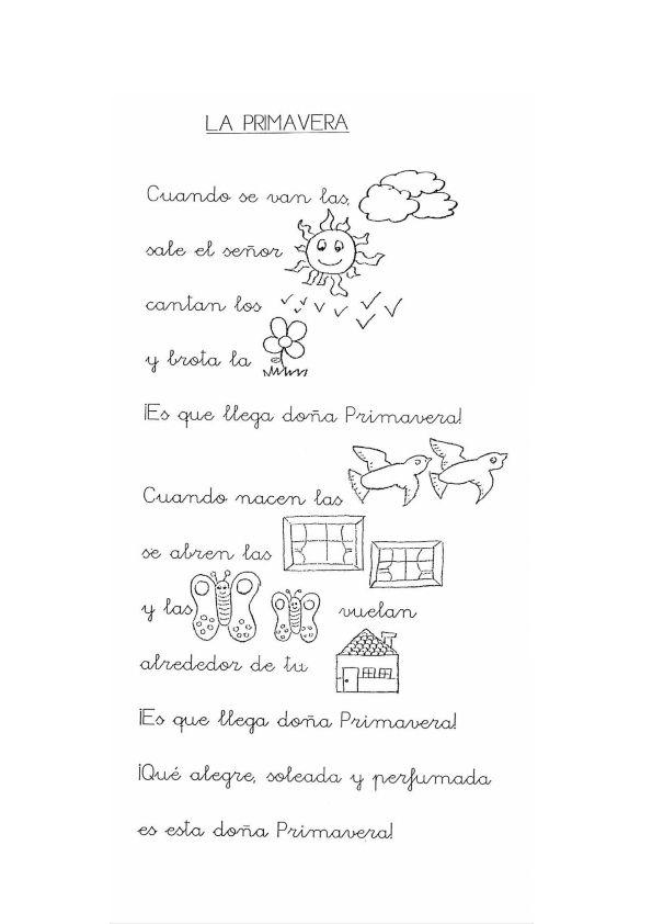Poesias con pictogramas para leer | Plantas | Pinterest | Spanish ...