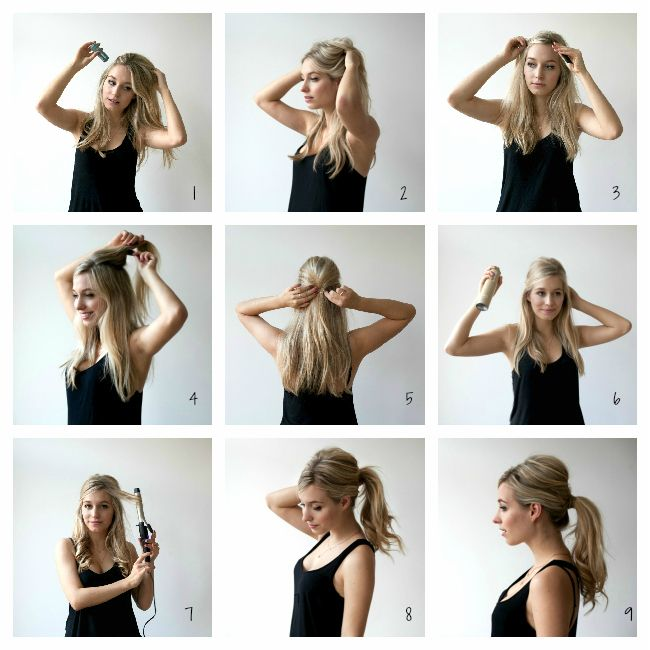 Messy Sixties Ponytail Tutorial Hairstyles For Nurses Pinterest