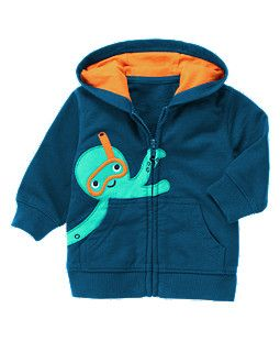 d1f2878c7 Snorkel Octopus Hoodie for Baby Boys... Adorable!