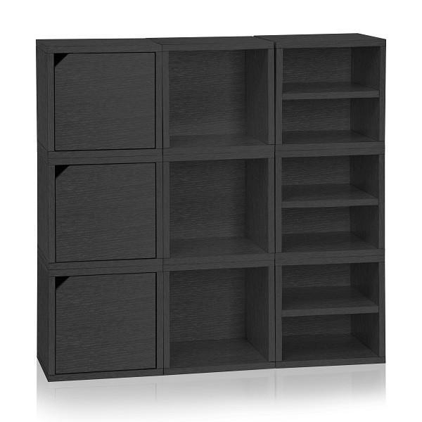 Connect 9 Cube Black  sc 1 st  Pinterest & Connect 9 Cube Black | Cube Storage cubes and Black bookshelf
