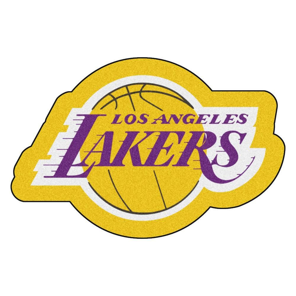 Fanmats Nba Los Angeles Lakers Mascot Mat 36 In X 23 8 In Indoor Area Rug 21343 Los Angeles Lakers Nba Los Angeles Lakers Team