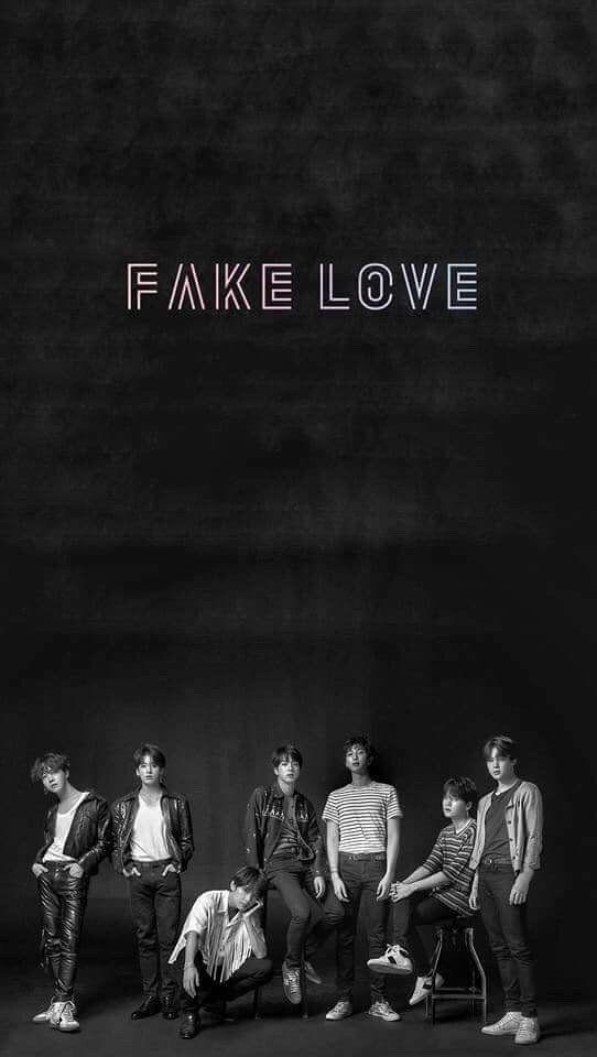lirik lagu bts fake love