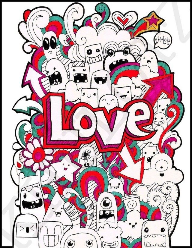 Cute love doodle drawings images for Love doodles to draw