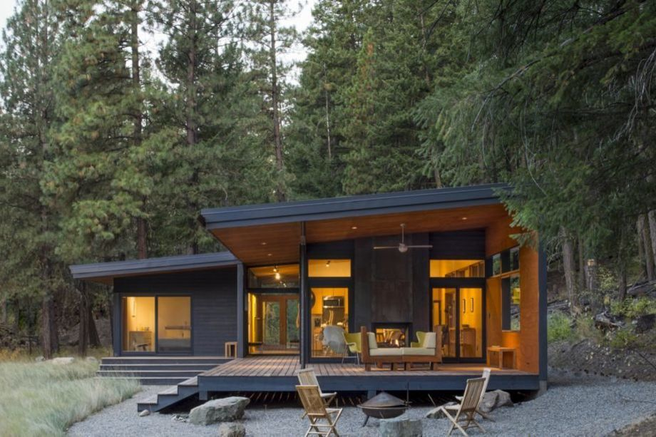 Best This Midcentury Modern Inspired Cabin Offers A Cozy 640 x 480