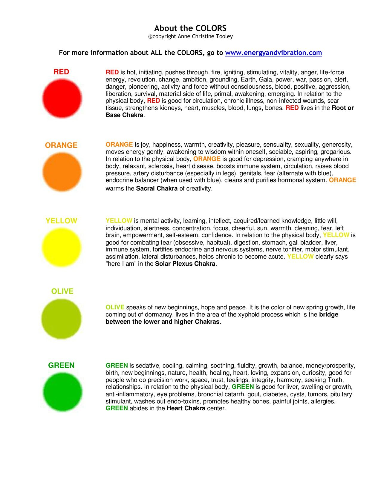 Colour therapy for stomach - You Can Find More Information About All The Colors Color Light And