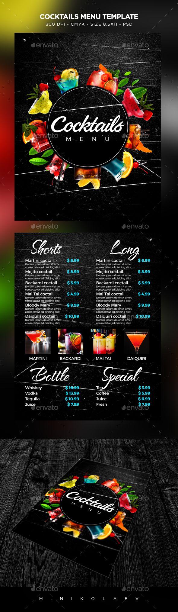Cocktail Drinks Menu | Bar, Cervecería y Gastronomía
