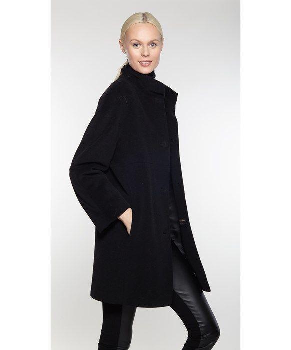 Luxury Angora/Wool Drop Shoulder Coat