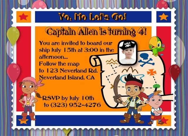 Download now free template jake and the neverland pirates birthday download now free template jake and the neverland pirates birthday invitations filmwisefo