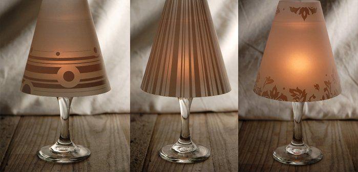 Wonderful Diy Fancy Wine Glass Candle Lampshades Make A Lampshade Lampshades Lamp Shades