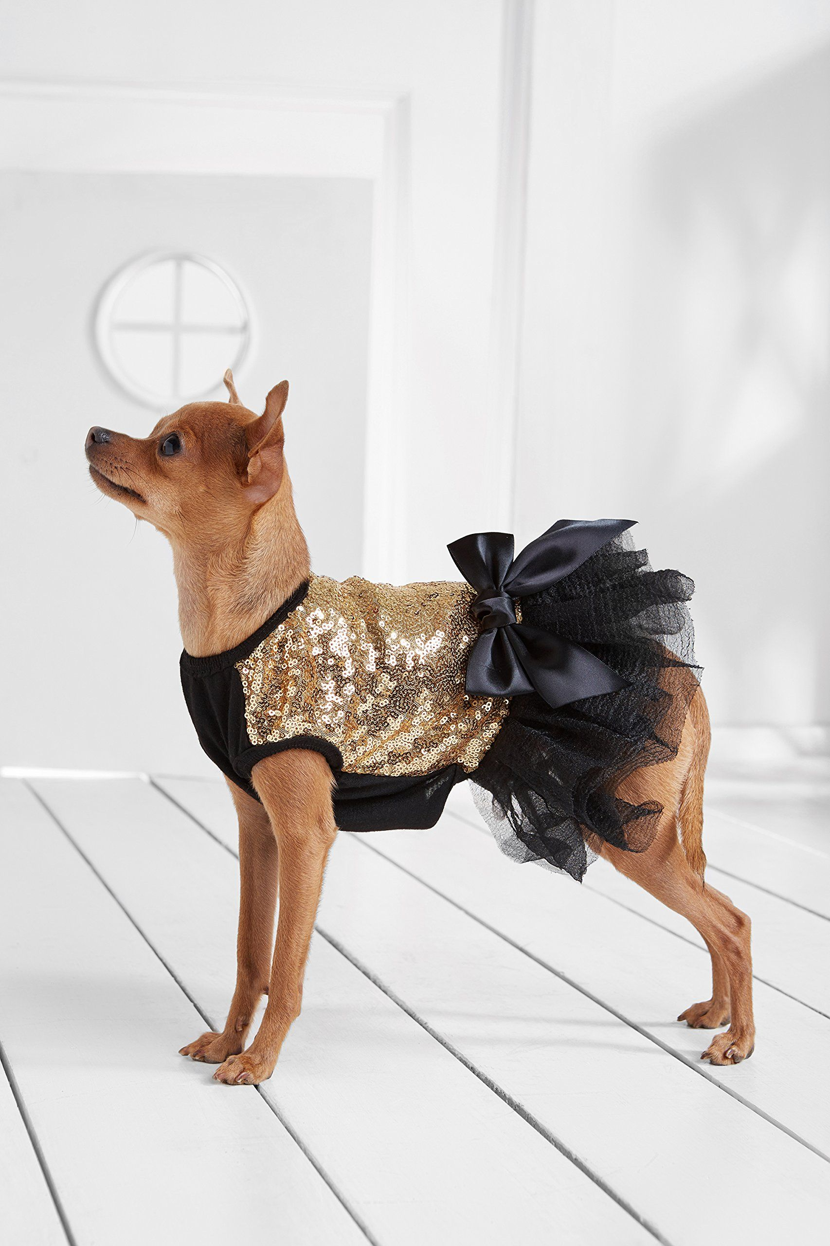 SELMAI Small Dog Party Dress Formal Evening Wedding Tutu Shirts Sundress Satin Bowknot Tiered Lace Sweet Fairlady Pet Puppy Cat Doggie Clothes Apparel Outfits Blue XS