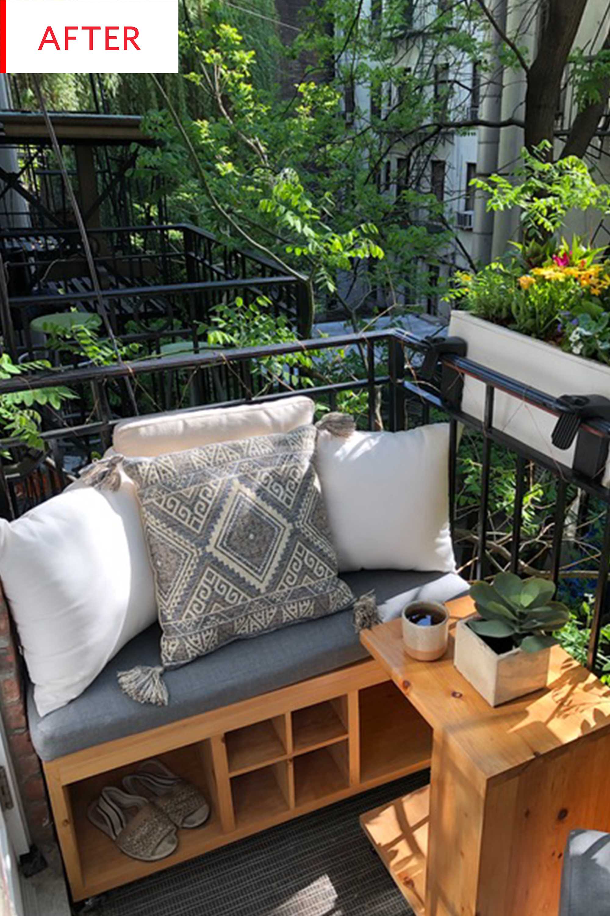 This 200-Square-Foot Apartment Has An Equally Super Tiny ... on Small Square Patio Ideas id=49781