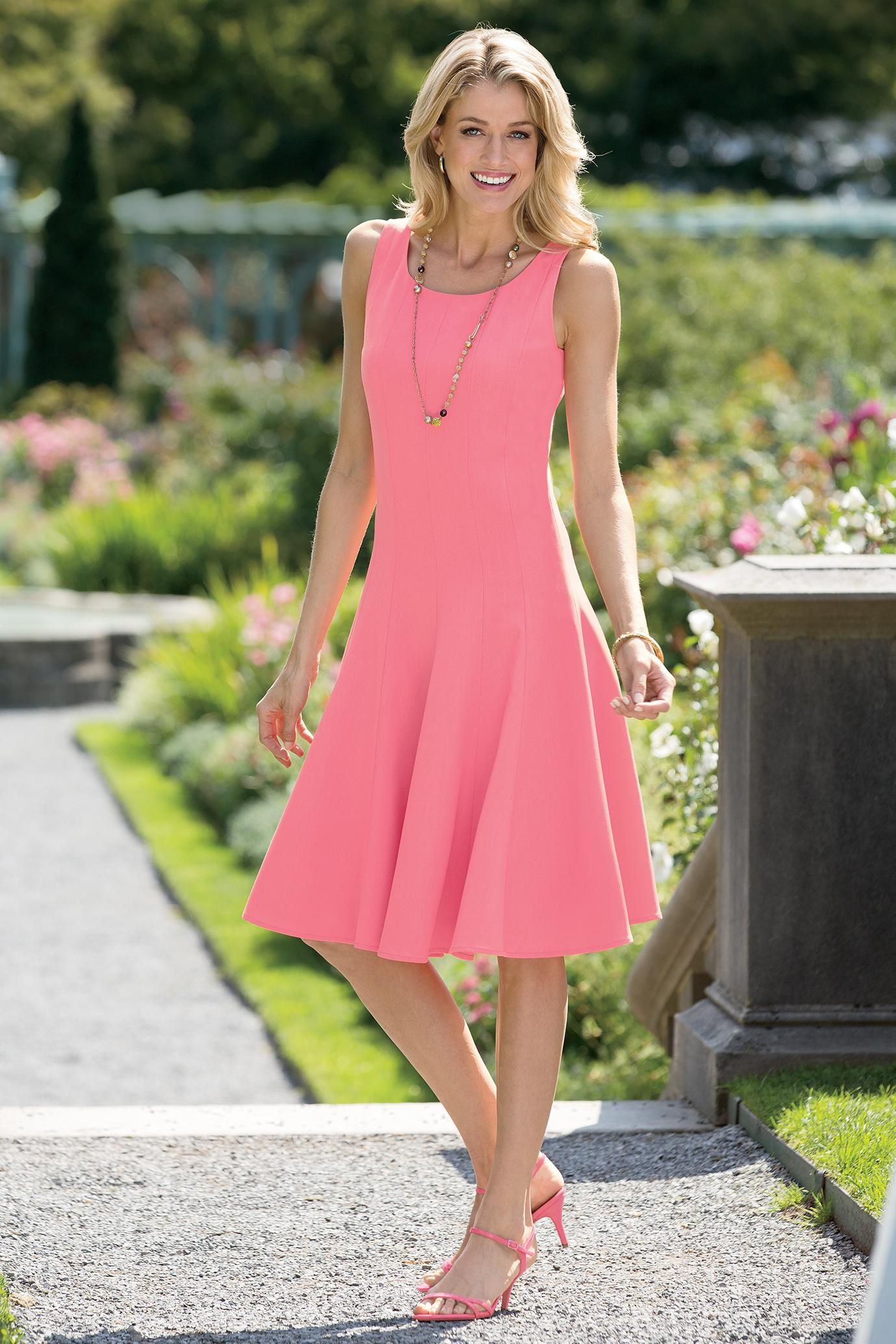 Petite Fit And Flare Sleeveless Dress in Four beautiful colors ...