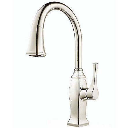 Polished Nickel Briarsfield Pulldown Kitchen Faucet  Gt529Bfd Unique Brushed Nickel Kitchen Faucet Decorating Design