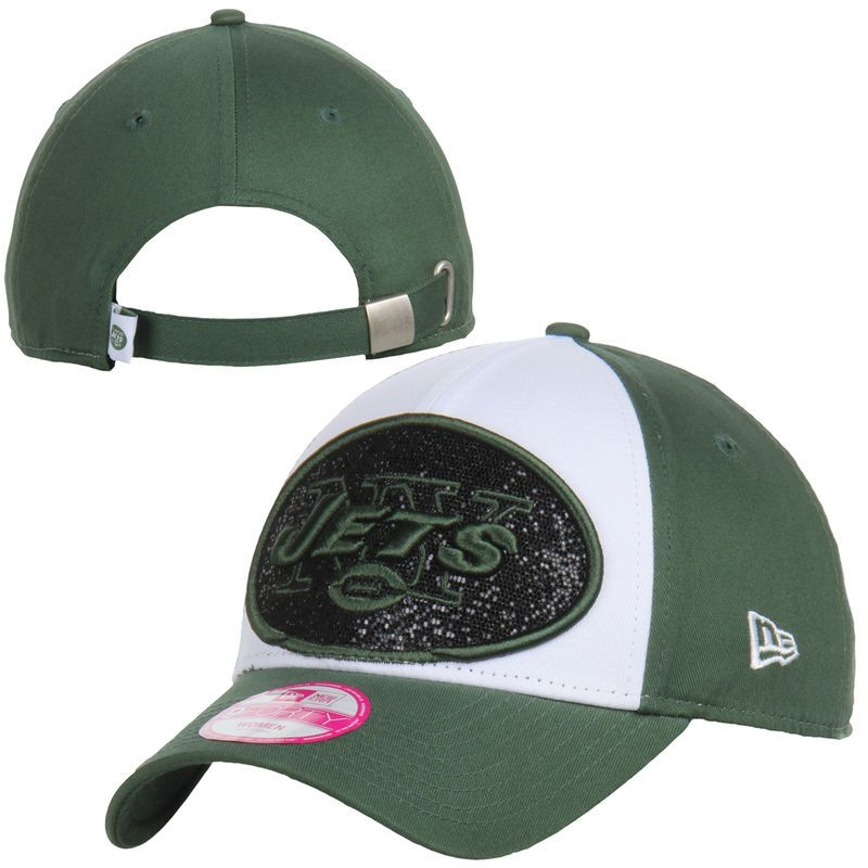 New York Jets New Era Women s Glitter Glam 9FORTY Adjustable Hat - White 5db1f64c818