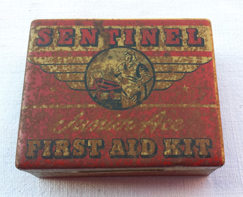 Sentinel First Aid Kit vintage box. by essenzials on Etsy
