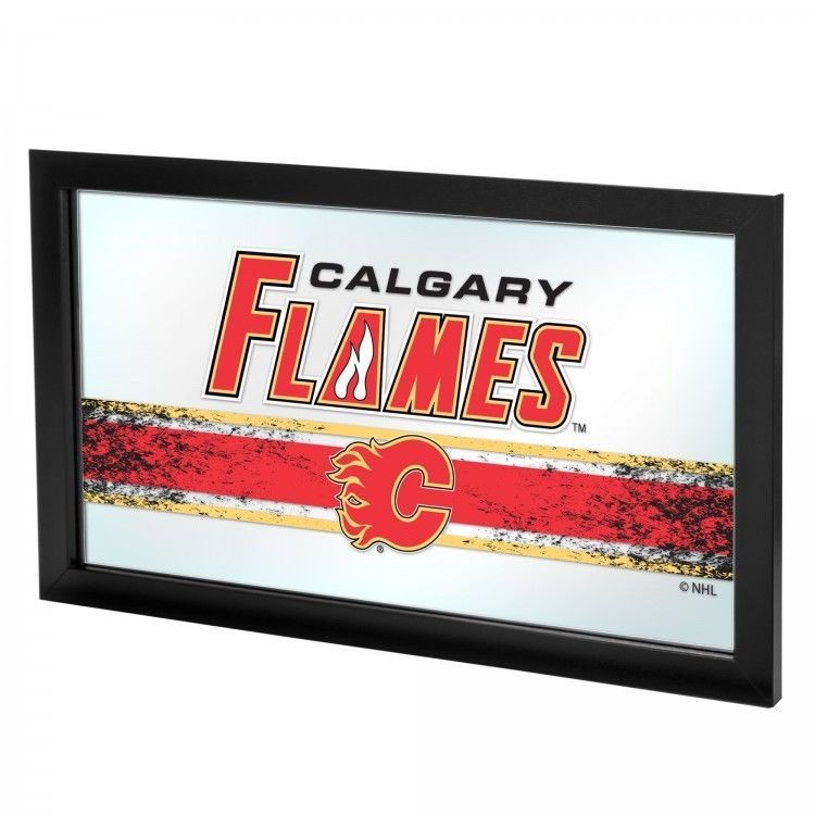 Calgary Flames Framed Logo Mirror NHL National Hockey League Officially Licensed #TrademarkGameroom