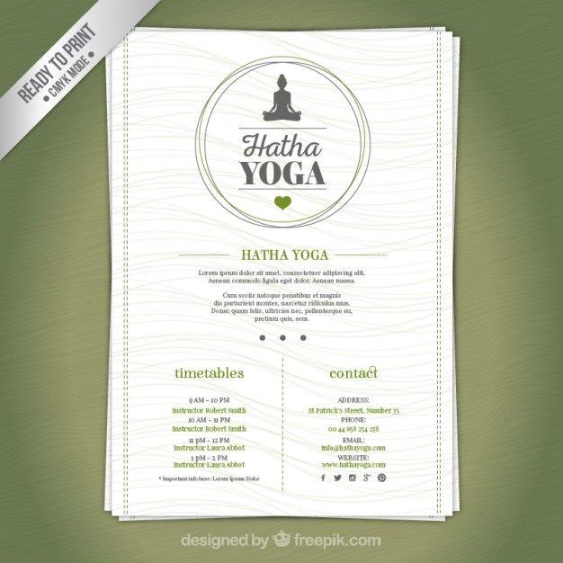 Yoga Brochure Templates Free. « | Yoga Project | Pinterest