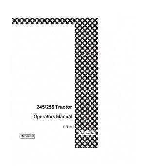 CASE IH 244 245 254 255 TRACTOR OPERATORS MANUAL DOWNLOAD