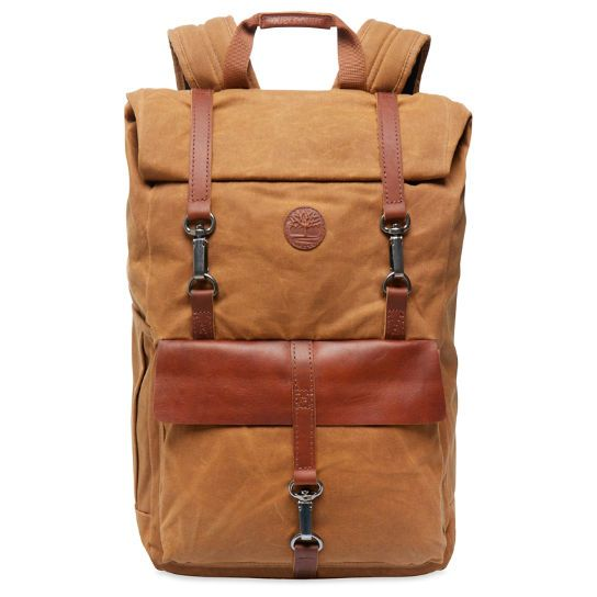 63c7b194c4 Walnut Hill - Waxed Canvas Roll-Top Backpack