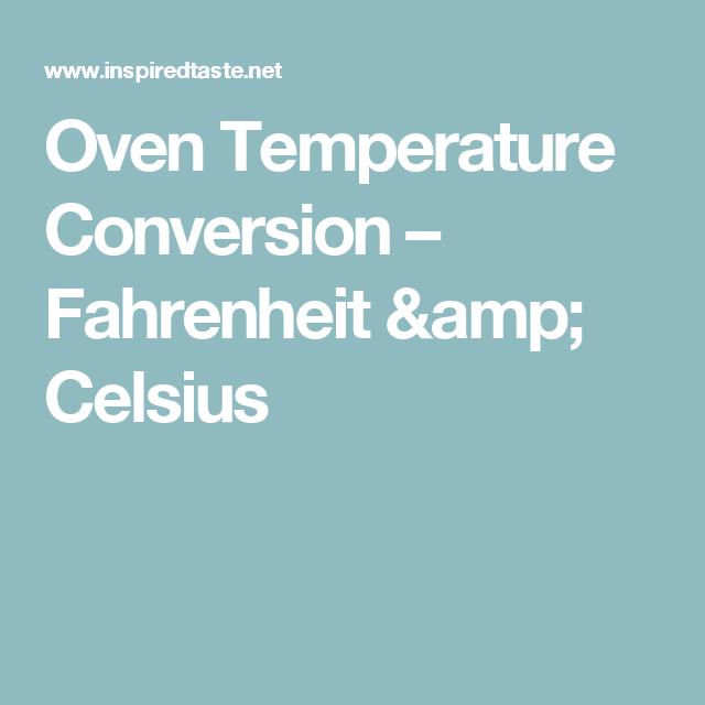 Oven Temperature Conversion Oven